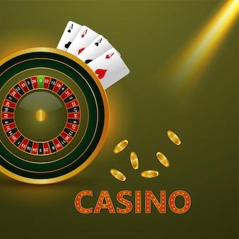 Sfondo del gioco d'azzardo di lusso del casinò vip