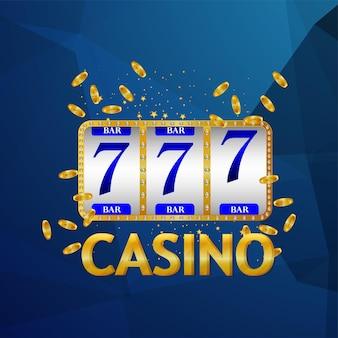 Casinoillustration con chip di carte e slot