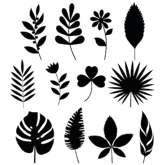Stencil di colata e fiori neri.