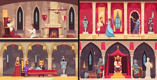 Insieme di concetti di interni del castello