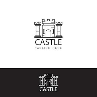 Modello di icona del logo del castello
