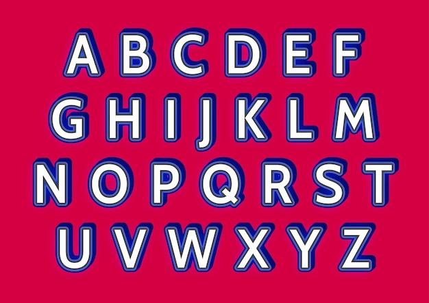 Set di alfabeti in grassetto casual