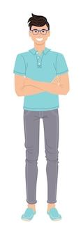 Illustrazione maschile vestito casual