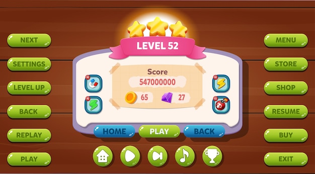 Viene visualizzato il menu dell'interfaccia utente del gioco casuale
