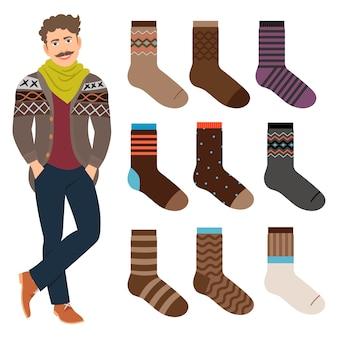 Set di calzini maschili stile casual