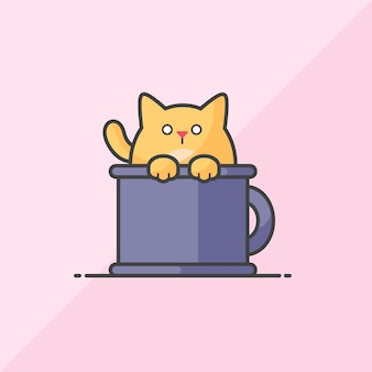 Gatto nella tazza