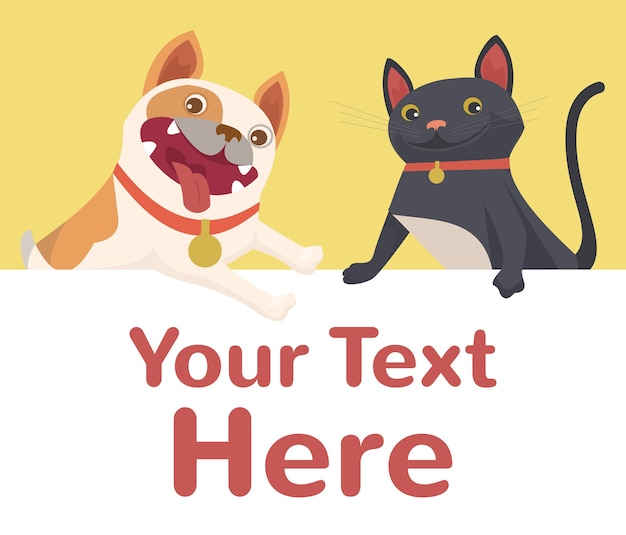 Illustrazione di bsnnet di cane e gatto