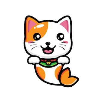 Personaggio di combinazione gatto e pesce