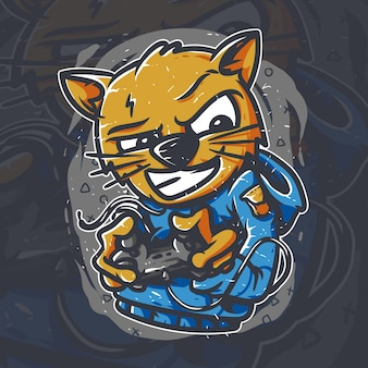 Grafica del giocatore gatto