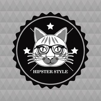 Timbro sigillo occhiali da gatto