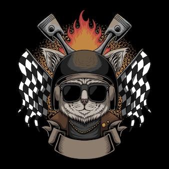 Cat casco moto