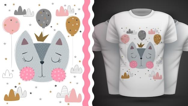 Gatto, gattino - idea per t-shirt stampata