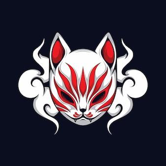 Maschera di gatto giapponese illustrazione vettoriale