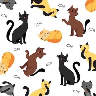 Sfondo di pattern di gatto