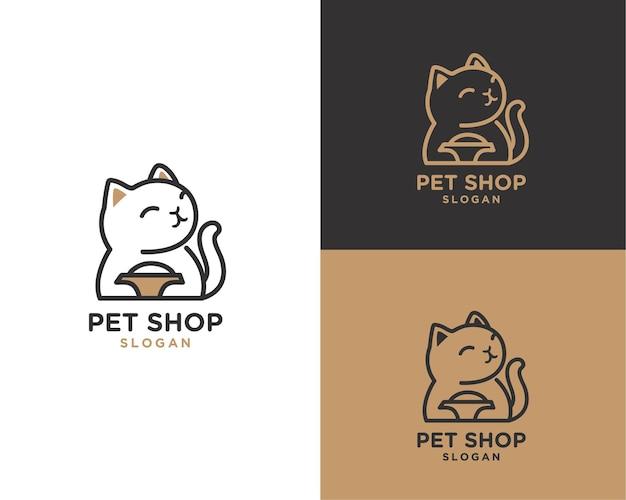 Logo del negozio di animali per gatti