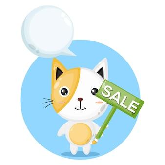 Gatto in vendita simpatico personaggio cat
