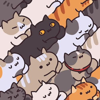Seamless pattern di gatto