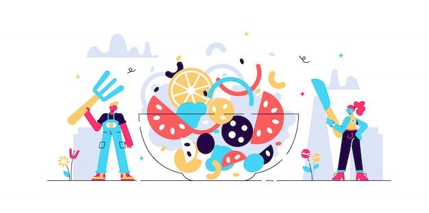 Illustrazione di catering.