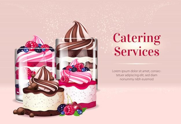 Banner di servizi di catering
