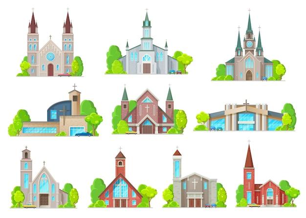 Icone delle costruzioni della chiesa cattolica