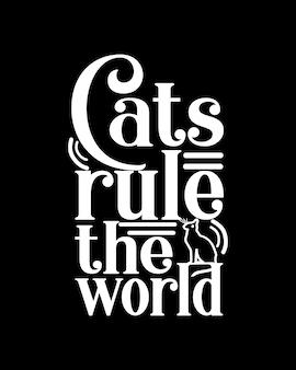 I gatti governano la tipografia del mondo