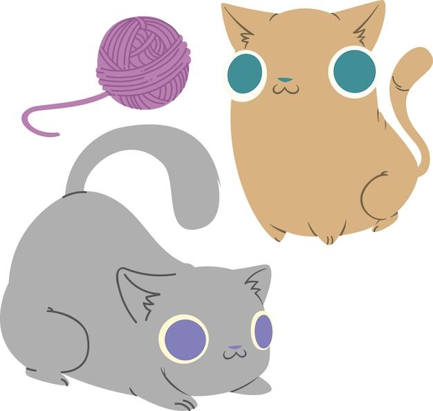 Immagine vettoriale gatti