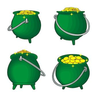 Calderone o pentola di monete