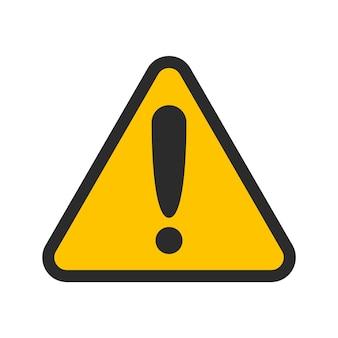 Allarme di attenzione imposta icona di attenzione raccolta segno di pericolo