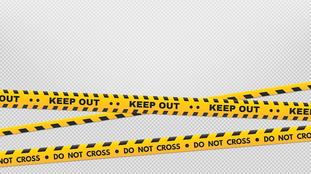 Attenzione strisce perimetrali. nastri di avvertenza e pericolo
