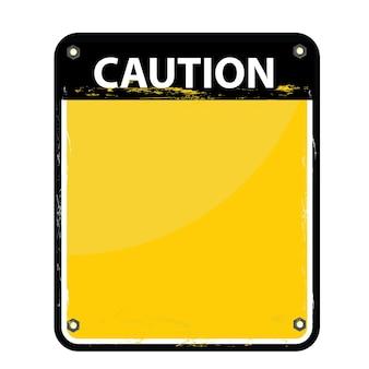 Attenzione o segno per fare attenzione in quest'area