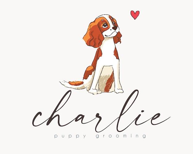 Design del logo premade cavalier king charles spaniel