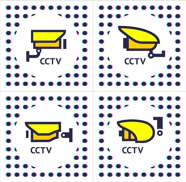 Telecamera cctv imposta adesivi