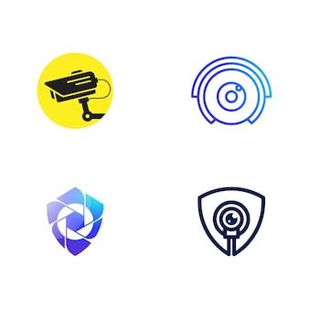 Modello di illustrazione del design dell'icona di vettore cctv