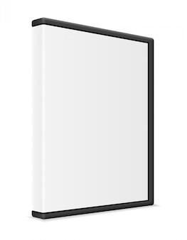 Illustrazione di vettore dell'imballaggio della cassa della scatola del bisco del dvd e del cd