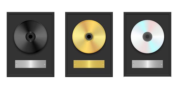 Illustrazione di cd e dvd isolata su fondo bianco