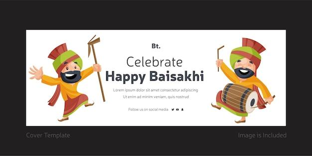 Festeggia il felice design della copertina di baisakhi