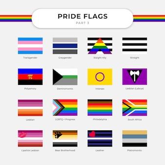 Celebra la libertà e il supporto lgbt con il vettore gratuito di bandiera lgbt