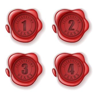 Festeggia il sigillo di cera biglietto d'auguri 1-4 anni
