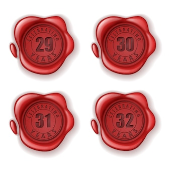 Celebrando il sigillo di cera biglietto d'auguri 29-32 anni