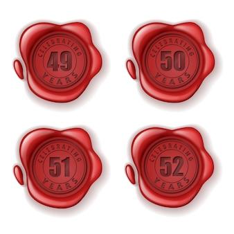 Celebrando il sigillo di cera biglietto d'auguri 49-52 anni