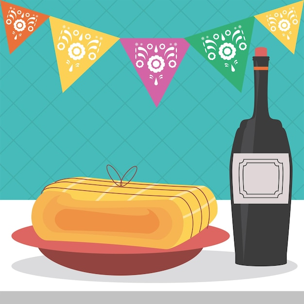 Festeggiando il vino festivo
