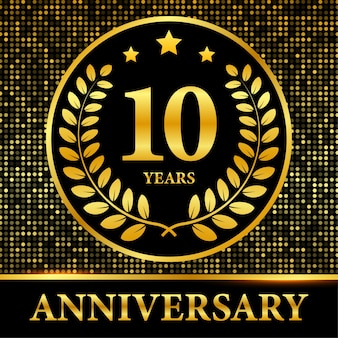 Modello di festa evento di anniversario di celebrazione. illustrazione di riserva.
