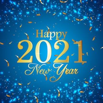 Sfondo di celebrazione per felice anno nuovo
