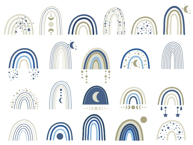 Celeste arcobaleno blu illustrazione.