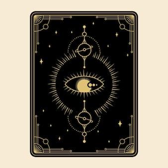 Set di carte dei tarocchi magici celesti esoterico occulto lettore spirituale stregoneria occhio magico di dio