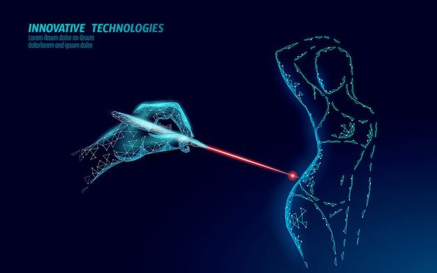 Cura del corpo per la correzione laser della cellulite. gel crema per la cura del salone anticellulite per la cura della salute della donna. slim forma fitness scolpire smagliature rimozione illustrazione vettoriale.