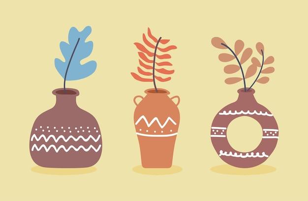 Decorazione di vasi in ceramica