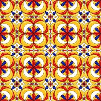 Modello di piastrelle di ceramica. splendido modello senza cuciture. può essere utilizzato per il motivo della carta da parati riempie lo sfondo della pagina web