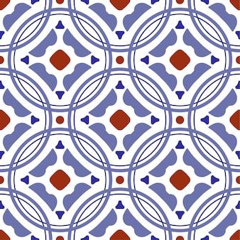 Modello di piastrelle di ceramica, vintage piastrellato con patchwork colorato stile turco, ornamento floreale decorativo portogallo