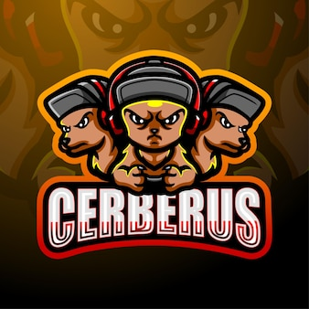 Cerberus mascotte esport logo design